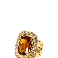 Vintage Chic Cocktail Ring in Gold – bandbcouture.com