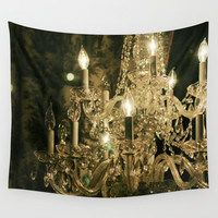 New Orleans Chandelier Wall Tapestry by Heather Green