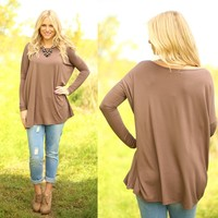Pretty in Piko Top in Brown