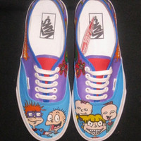 "Hand Painted ""Rugrat"" Shoes"