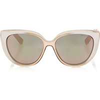 Jimmy Choo CINDY Dove Grey and Gold Copper Cat-Eye Sunglasses