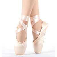 2016 Hot Child and Adult ballet pointe dance shoes ladies professional ballet dance shoes with ribbons shoes woman Free shipping