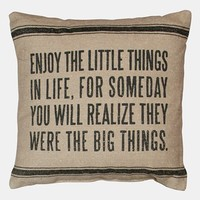 Primitives by Kathy 'Little Things' Linen Pillow | Nordstrom