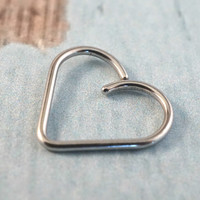 Silver Heart Daith Cartilage Ear Piercing Cartilage