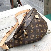 LV Louis Vuitton Hot Sale Women Popular Leather Purse Waist Bag Single-Shoulder Bag