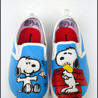 Boys Shoes - Snoopy, Boys Sneakers - Snoopy, Snoopy Shoes. Gifts for Boys, Painted Snoopy Shoes, Handmade Snoopy Shoes