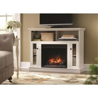 Home Decorators Collection Charles Mill 46 in. Convertible Media Console Electric Fireplace in White-85811 at The Home Depot