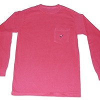 Long Sleeve Pocket Tee - Roseate Pink