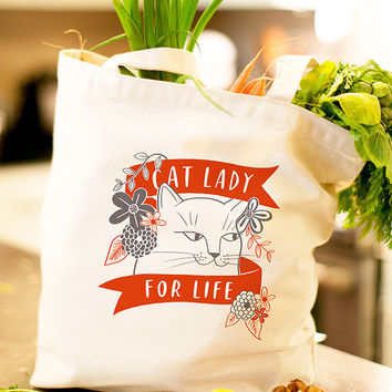 The Cat Lady Tote Bag