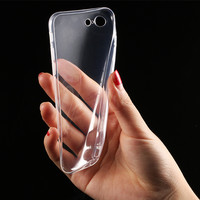 1 pcs Transparent Clear TPU Case for iPhone 7 7 Plus 6 6s 5 5s SE Mobile Phone Cases Soft Silica Gel Silicone Cover