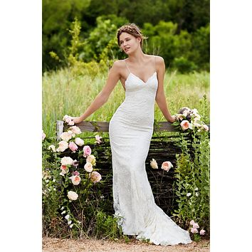 Willowby by Watters 54107 Inez Lace Garden Fit N Flare Wedding Dress