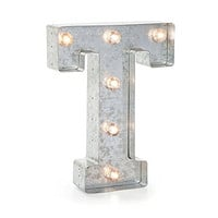 """Darice Silver Metal Marquee Letter 9.875""""-T"""