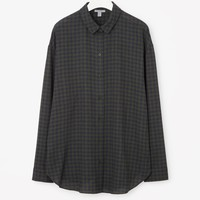 Relaxed check shirt - Khaki Green - Sale - COS US