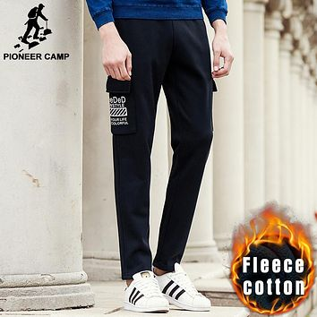 New arrival autumn winter pants men clothing male black warm sweatpants mens black fashion trousers