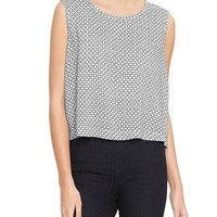 Gap Women Factory Cropped Print Tank