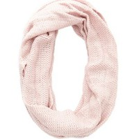 Lt Pink Shimmer Knit Infinity Scarf by Charlotte Russe