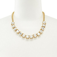 kate spade new york Squared Away Crystal Stone Necklace - Gold/Crystal