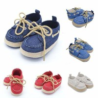 US Infant Toddler Baby Boys Girls Crib Shoes Casual Sneaker Newborn to 18 Months