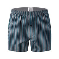 Casual Striped Men Boxer Shorts Loose Woven Arrow Panties Cotton Boxers Underwear for Men Home