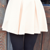 Couldn't Be More Cute Skirt: Cream