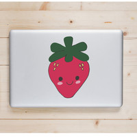 """Strawberry Kawaii Die Cut Sticker // Cute Japanese // Computer & Tablet XL Size // 8"""" // Perfect For Indoor, Outdoor, Laptop, Car"""