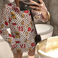 LV Women Casual Long Sleeved Shirt