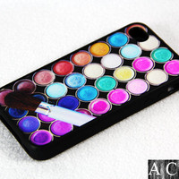 Makeup brushes iPhone 4 iPhone 4S Case, Rubber Material Full Protection