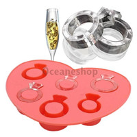 Ice Tray Diamond Love Ring Ice Cube Style Freeze Ice Mold Ice Maker Mould