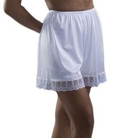Underworks Pettipants Nylon Culotte Slip Bloomers Split Skirt 4-inch Inseam 6-Pack