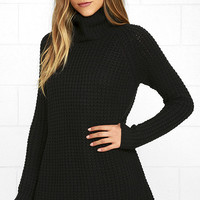Element Eden Eleventh Black Sweater Dress