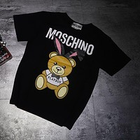 Moschino Woman Men Fashion Casual Sports Shirt Top Tee-3
