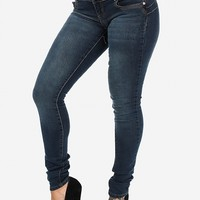 Faded Skinny Butt Lifting Jeans