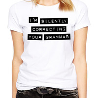 Funny Sarcastic Shirt - Grammar Police - Grammar Nazi - Spelling - Literature - Gift For English Major - Typography Tee - English Teacher