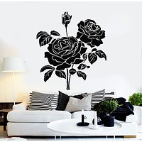 Vinyl Wall Decal Bud Roses Bouquet Flowers Garden Home Interior Stickers Mural (g2546)