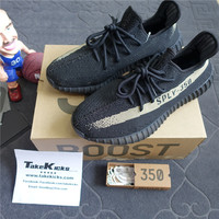 Original Adidas YEEZY Boost 350 V2 BLACK/GREEN Kanye West BY9611