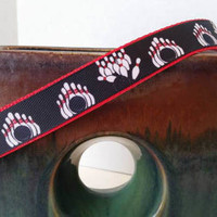 Red and Black Bowling Dog Collar, Pet Collar, and Leash