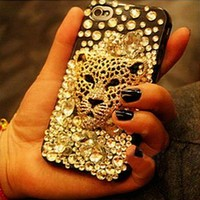 Ambition Leopard Handmade Rhinestone Case For Iphone 4/4s