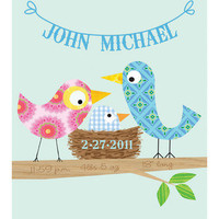 Ellen Crimi-Trent - Blue Bird Personalized Print | moms, babies and kids