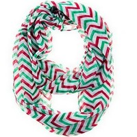 8Years Fashion Soft Chevron Sheer Infinity Scarf Striped Circle Scarves