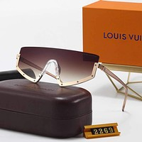 Louis Vuitton LV fashion men's and women's gradient color all-in-one glasses driving beach polarized sunglasses