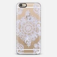 Pretty Pale Lavender Floral on Crystal Transparent iPhone 6 case by Micklyn Le Feuvre   Casetify