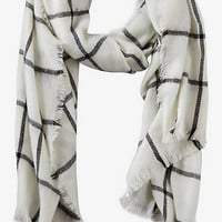 Windowpane Plaid Blanket Scarf from EXPRESS