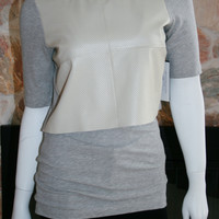 Double Layered Leather Tee