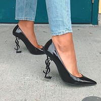YSL Yves Saint Laurent new women's ultra-high heel stiletto with a high heel shoes
