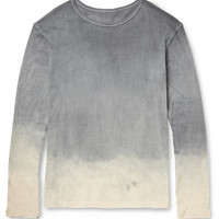 The Elder Statesman - Dyed Cotton and Cashmere-Blend T-Shirt   MR PORTER
