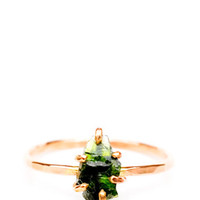 Diopside Claw Ring