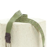 Vintage Y2K Army Green Grommet Belt - One Size Fits Many