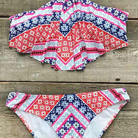 Cupshe Nothing is Perfect Halter Bikini Set