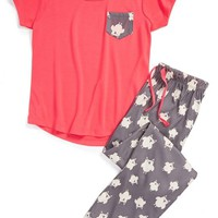 Tucker + Tate 'Owl' Two-Piece Pajamas (Little Girls & Big Girls)