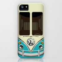 Summer Holiday blue teal kombi camper VW Volkswagen minivan minibus apple iPhone 4 4s, 5 5s 5c, 6, iPod & samsung galaxy s4 case